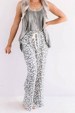 Loose Fit Leopard Print Pants