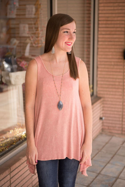 Don't Make Me Blush Distressed Tank Dress - by-Simply-Southern-Pretty-Please-on-Broad-Boutique