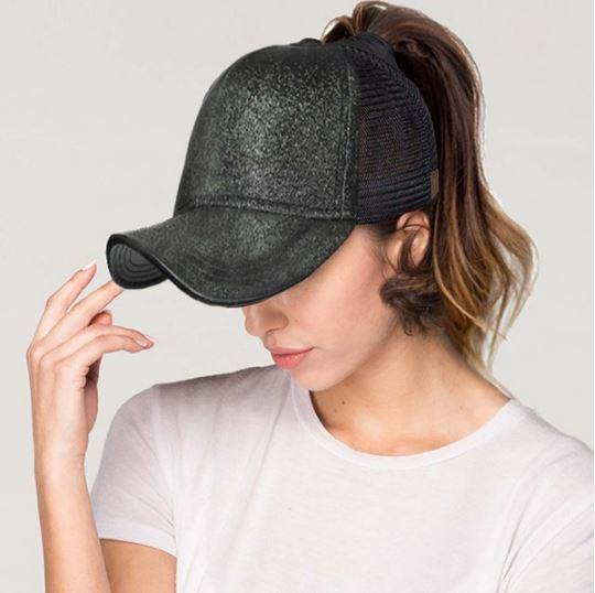 All Things that Glitter Pony Tail Baseball Caps - by-Simply-Southern-Pretty-Please-on-Broad-Boutique