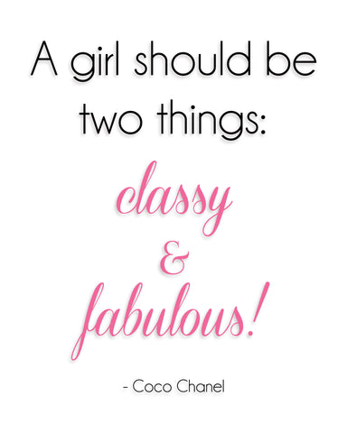 Classy and Fabulous 8x10 Print - Pretty Please on Broad
