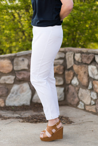 Emerson Essential Pant - White - Pretty Please on Broad