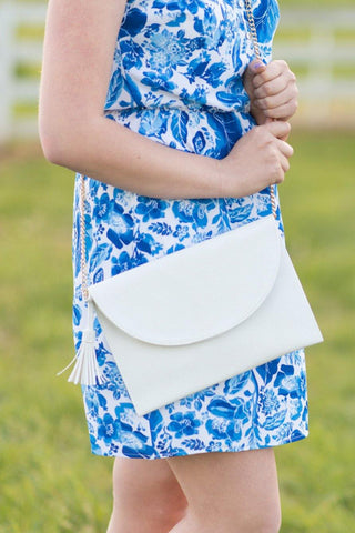 Bailey Crossbody Bag - White - Pretty Please on Broad