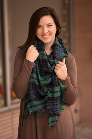 Blue & Green Blanket Scarf - by-Simply-Southern-Pretty-Please-on-Broad-Boutique