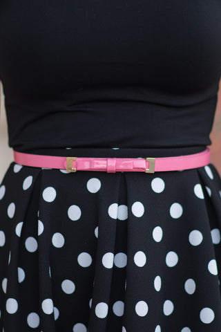 Dainty Bow Belt - Pink - Pretty Please on Broad