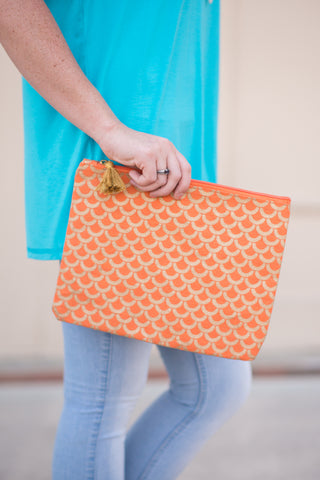Shimmer Case - Tangerine Scallop - Pretty Please on Broad