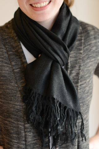 Classic Pashmina Scarf - Black - by-Simply-Southern-Pretty-Please-on-Broad-Boutique
