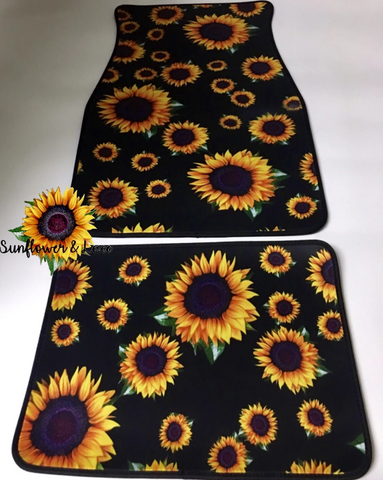 Addicted to Sunflowers Car Mat Set