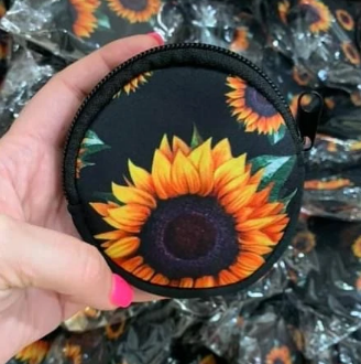 Sunflower Mask Holder / Coin Purse