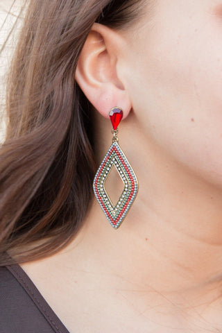 Bali Nights Earrings - Red - Pretty Please on Broad