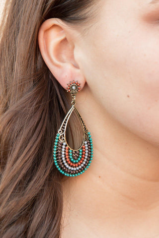 Bali Nights Earrings - Teal - Pretty Please on Broad
