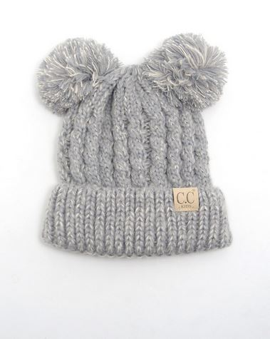 99321a358ff KID S Double Pom Pom CC Beanies – Pretty Please on Broad