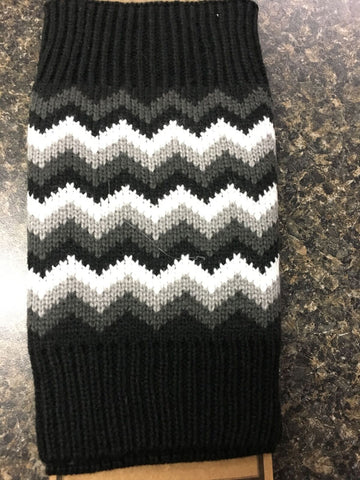 Knit Chevron Pattern Boot Cuff Toppers