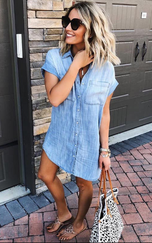 The Perfect Denim Chambray Shirt Dress