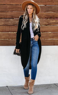 Double Take Cardigan Sweater - Pretty Please on Broad