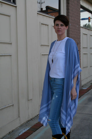 Pale Blue Wrap