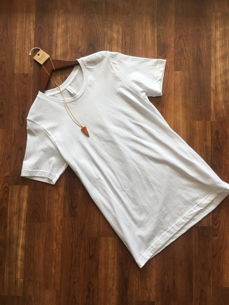 White Scoop Neck Tee
