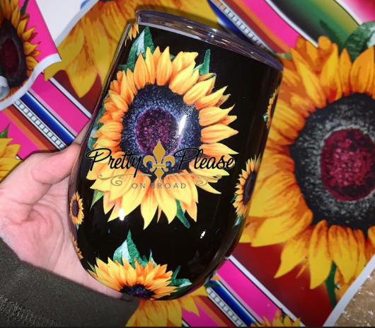 Sunflower Wine Tumbler