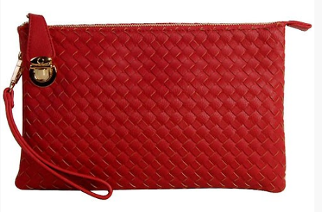 Braided Leather Clutch - Pretty Please on Broad