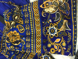 Leggings_Regal Blue and Gold Printed Leggings - PLUS Size - Pretty Please on Broad