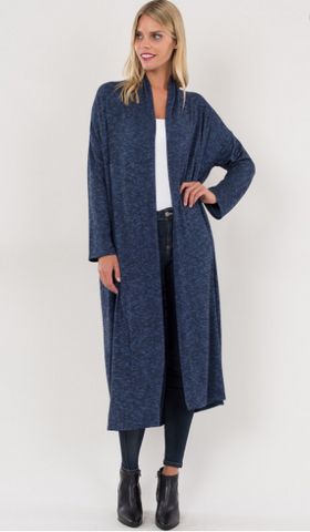 Indigo Blue Cardigan - Pretty Please on Broad