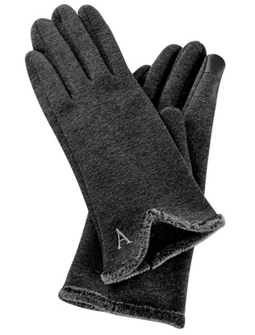Silver Monogram Gloves - Pretty Please on Broad