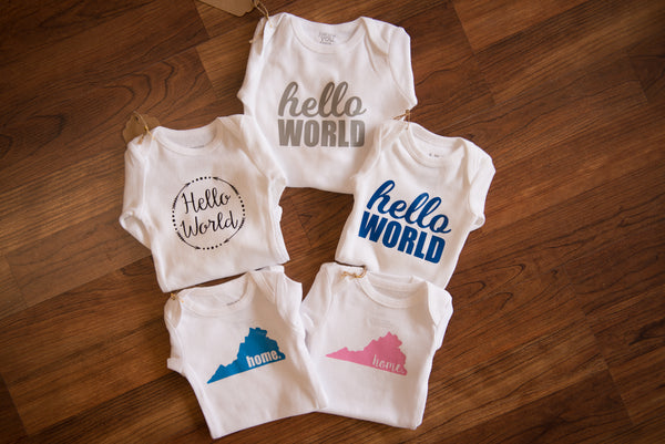 Hello World Arrow Onesie - Pretty Please on Broad
