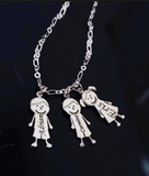 Engraved Family Charm Necklace - Pretty Please on Broad
