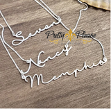 AC01 Signature Thin and Dainty Personalized Name Necklace