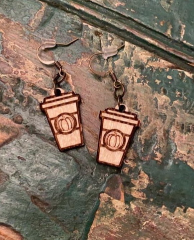 Pumpkin Spice Latte Earrings
