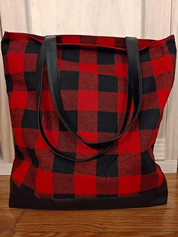 Buffalo Plaid Tote Bag