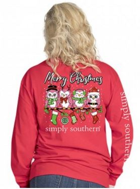 Simply Southern Preppy Collection Merry Christmas Long Sleeve T-Shirt