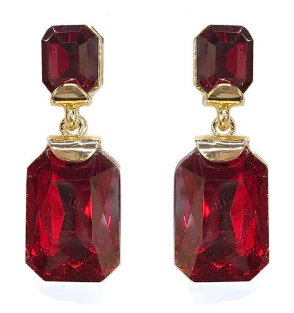 Red Glass Earring - Pretty Please on Broad