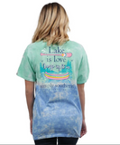 Simply Southern Preppy Collection Lake Is Love Canoe Tie Dye Tee T-Shirt