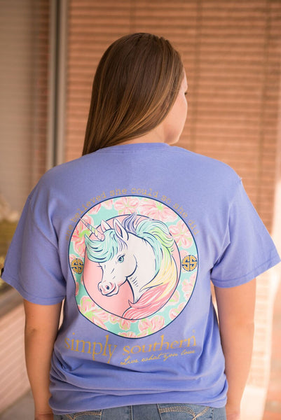 Simply Southern - Unicorn Tee - Pretty Please on Broad