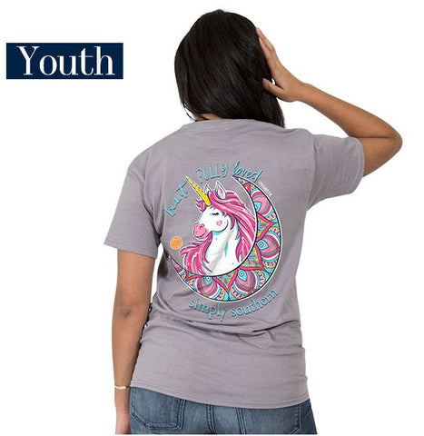 Simply Southern Beautifully Loved Unicorn YOUTH Tee