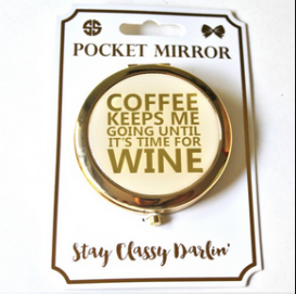 Simply Southern Preppy Collection Stay Classy Darlin' Compact Pocket Mirror