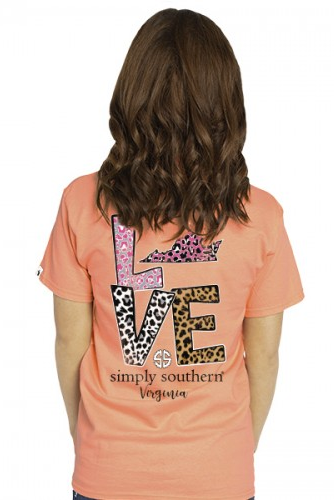 Simply Southern Preppy Collection Love Where You Live Virginia State Tee