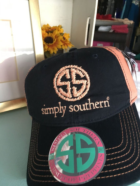 Preppy Chicks Boutique DISTRESSLOGO-NAVY-Hat-by-Simply-Southern
