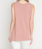 Sleeveless Knotted Top in Mauve