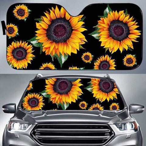 Sunflower Car Shade Visor