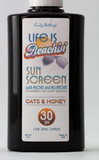 Life is Beachin' ALL NATURAL Scented Sunscreen