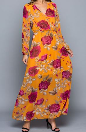 Life is Roses Floral Maxi Wrap Dress - Pretty Please on Broad