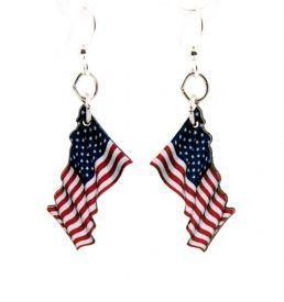 Waving American Flag Earrings