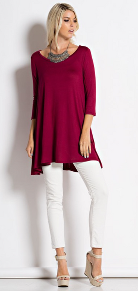Classic Tunic_Burgundy - by-Simply-Southern-Pretty-Please-on-Broad-Boutique