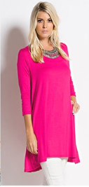 Classic Tunic_HotPinkFuscia - by-Simply-Southern-Pretty-Please-on-Broad-Boutique