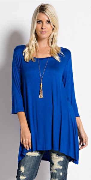 Classic Tunic_Royal Blue - by-Simply-Southern-Pretty-Please-on-Broad-Boutique