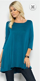 Classic Tunic_Teal - Pretty Please on Broad