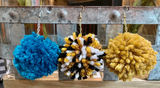 Large Solid Pom Pom Earrings