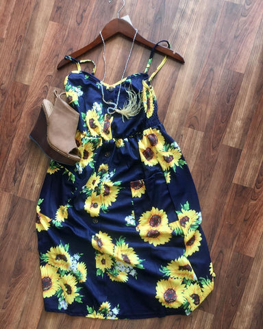 Amazing Sunflower Sun Dress