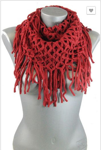 Fringed Infinity Scarves - Pretty Please on Broad